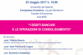 L'ESAME DEL BILANCIO DELLE IMPRESE IN CRISI – 8° sessione – 25 maggio 2017, ore 16 – Università Del Salento – Complesso Ecotekne – Facoltà di Economia – Aula E12
