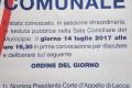 """""""Nomina Presidente Corte d'Appello di Lecce, Dr. Roberto TANISI. Riconoscimento Città di Taviano."""" – 14 luglio 2017 ore 19:30 – Consiglio Comunale Città di Taviano – TAVIANO"""