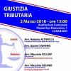 """""""Giustizia Tributaria"""" – 02 Marzo 2018 ore 15:00 – Auditorium Comunale – Casarano"""
