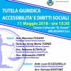 """""""Tutela Giuridica: Accessibilità e Diritti Sociali"""", 11 Maggio 2018, ore 15:30, Centro Culturale """"Q. Scozzi"""", MELISSANO"""